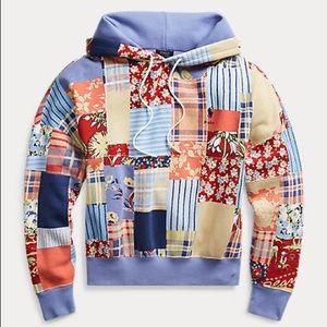 Polo Ralph Lauren Patchwork Fleece Hoodie Sweater